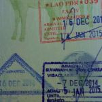 Border crossing, stamps