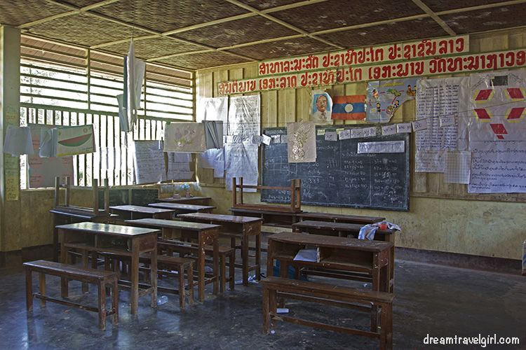 The school (it is empty because it was weekend)