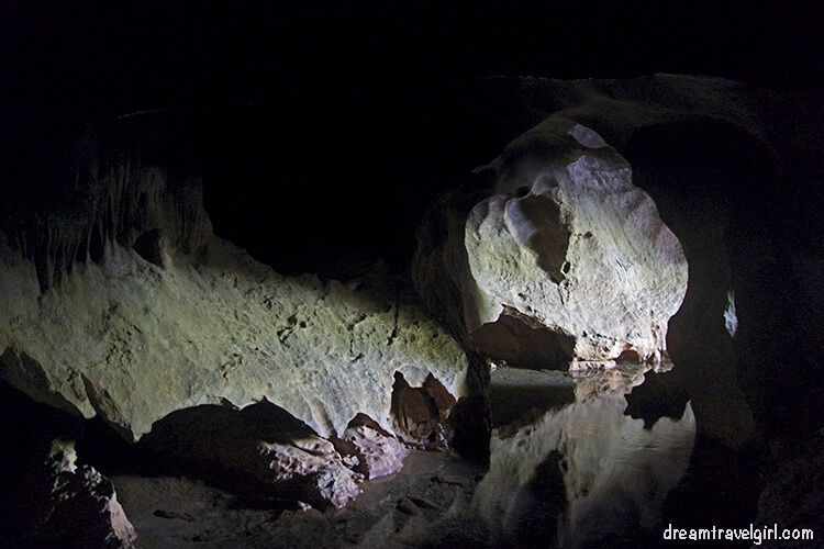 The entry of the cave from inside