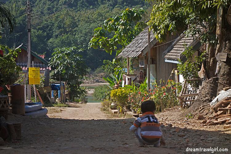 Side street, going to the boats in Muang Ngoi Neua