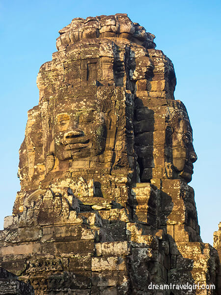 One of the many faces in Bayon temple