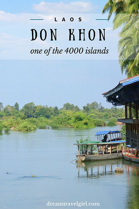 Don Khon, one of the 4000 islands in the South of Laos