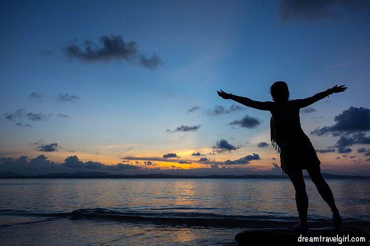 Viajando sola en la isla Kapas, Malasia