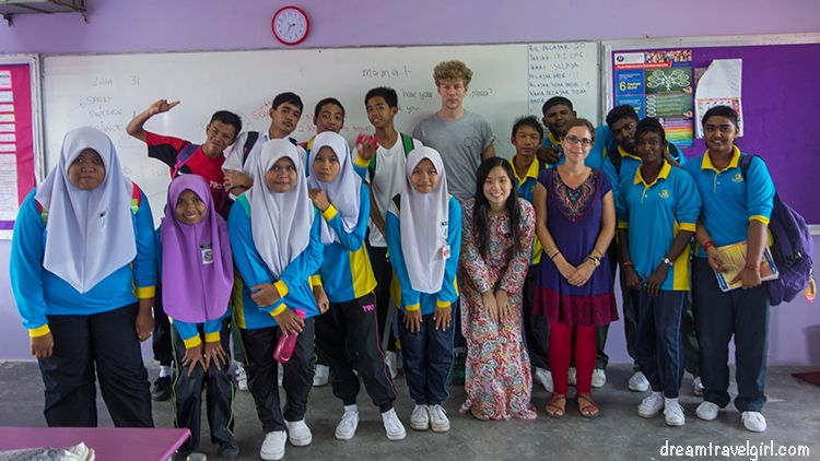 Volunteering in rural school, Malaysia