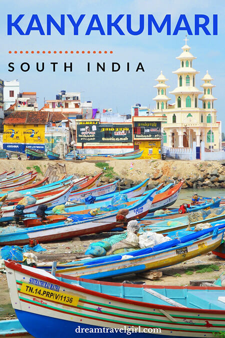 India travel: Kanyakumari is the southernmost point in India, a great place to see both the sunrise and the sunset. Discover what to do in Kanyakumari, Tamil Nadu. Click to read the full article on dreamtravelgirl.com.