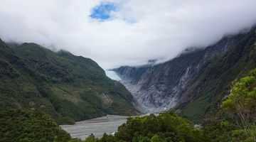 Playing hide-and-seek in Franz Josef Glacier