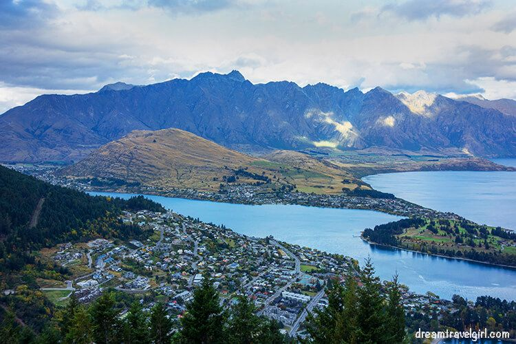 Queenstown from the top of the hill