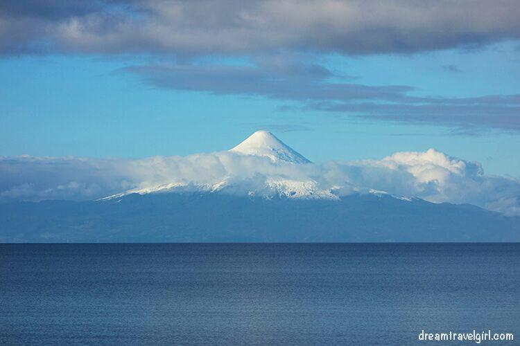Volcano Osorno and lake Llanquihue, Chile