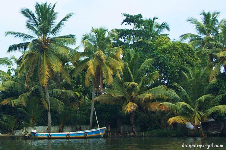 Canoe in Allepey, Kerala, India