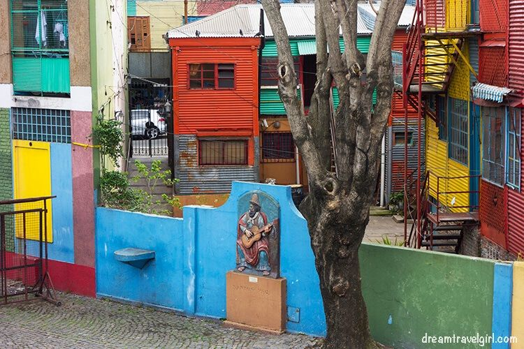 Colorful houses in Caminito