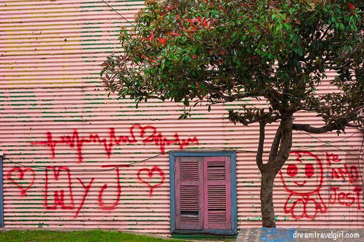 Love message in La Boca