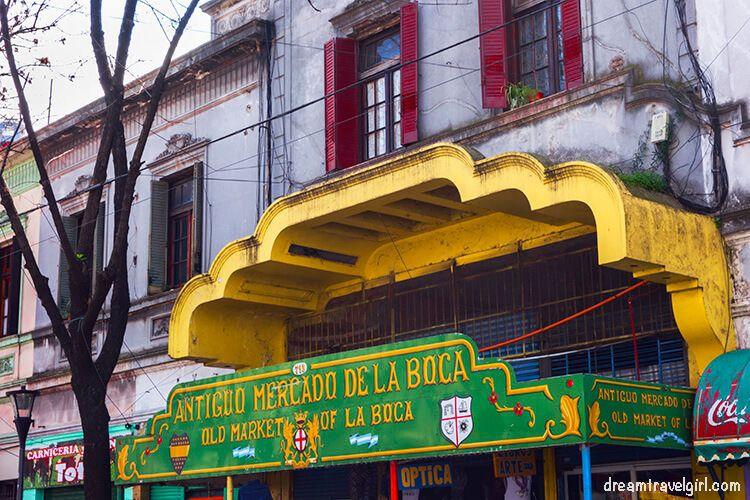 Market in La Boca
