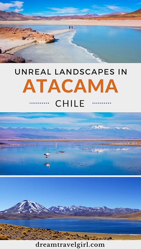 Atacama in Chile is amazing! Discover the most unreal landscapes in San Pedro de Atacama. My favorites: Piedras Rojas (Red Stones) and Salar de Atacama (Atacama Salt Flats). It is a photography dream. Click the post for more information.
