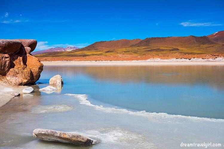 Hot water salt flat