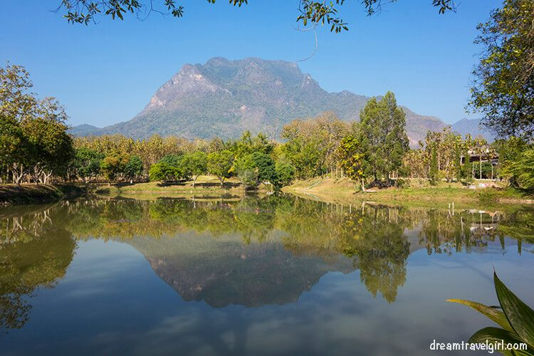 Mt Chiang Dao, reflection on a pond