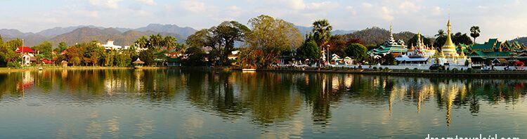 Mae Hong Son, panorama of the lake