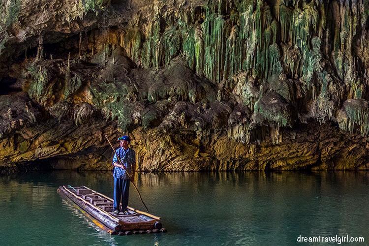 Bamboo raft, Tham Lod caves, Soppong