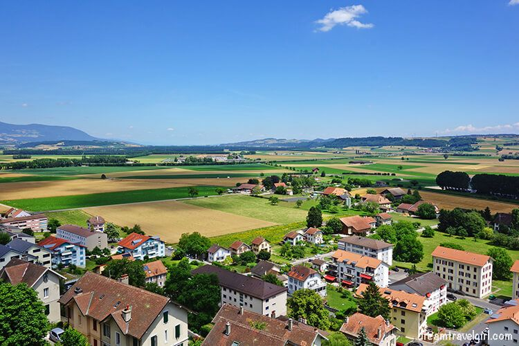 Views from the castle tower in Orbe