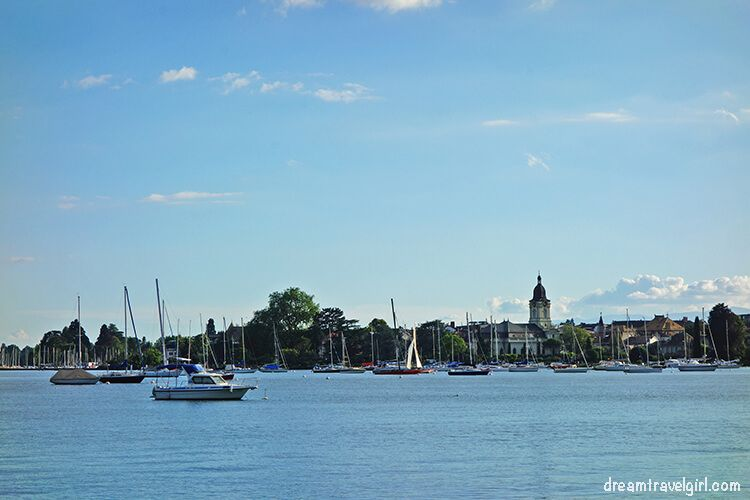 Morges from the lake shore