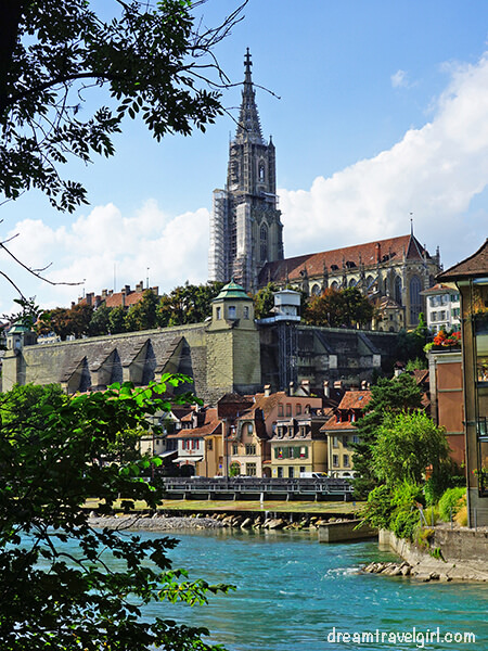 Bern Old Town from the river