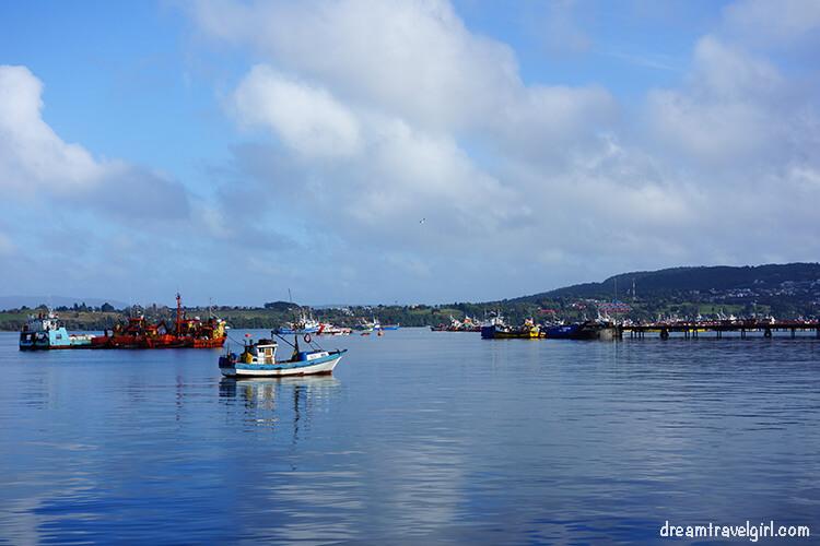 Boats in Quellon, Chiloe