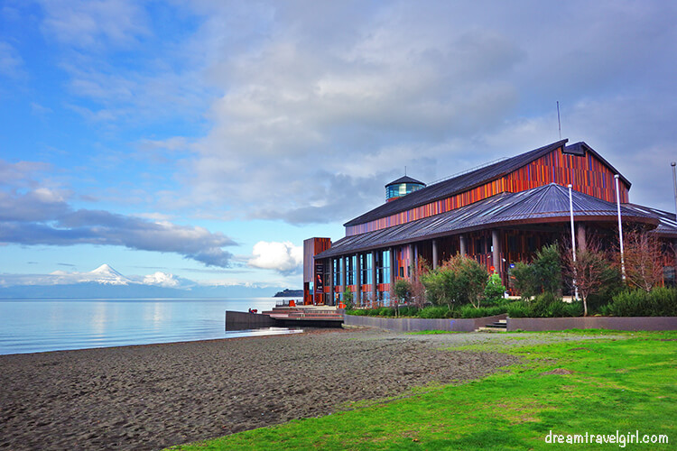 Lake Theater and volcano Osorno in the background