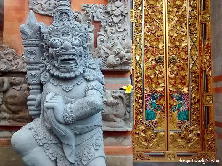 Rock carving in Ubud, Bali