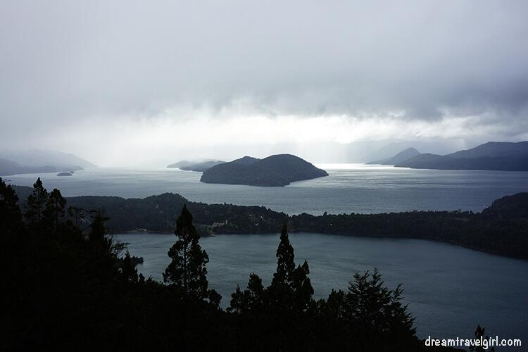 Bariloche Argentina: views from Cerro Campanario on a rainy day