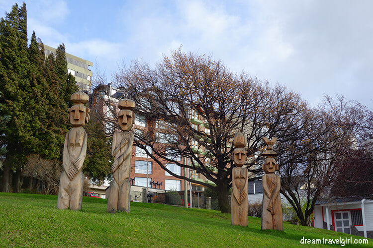 Wooden statues in Bariloche, Argentinian Patagonia