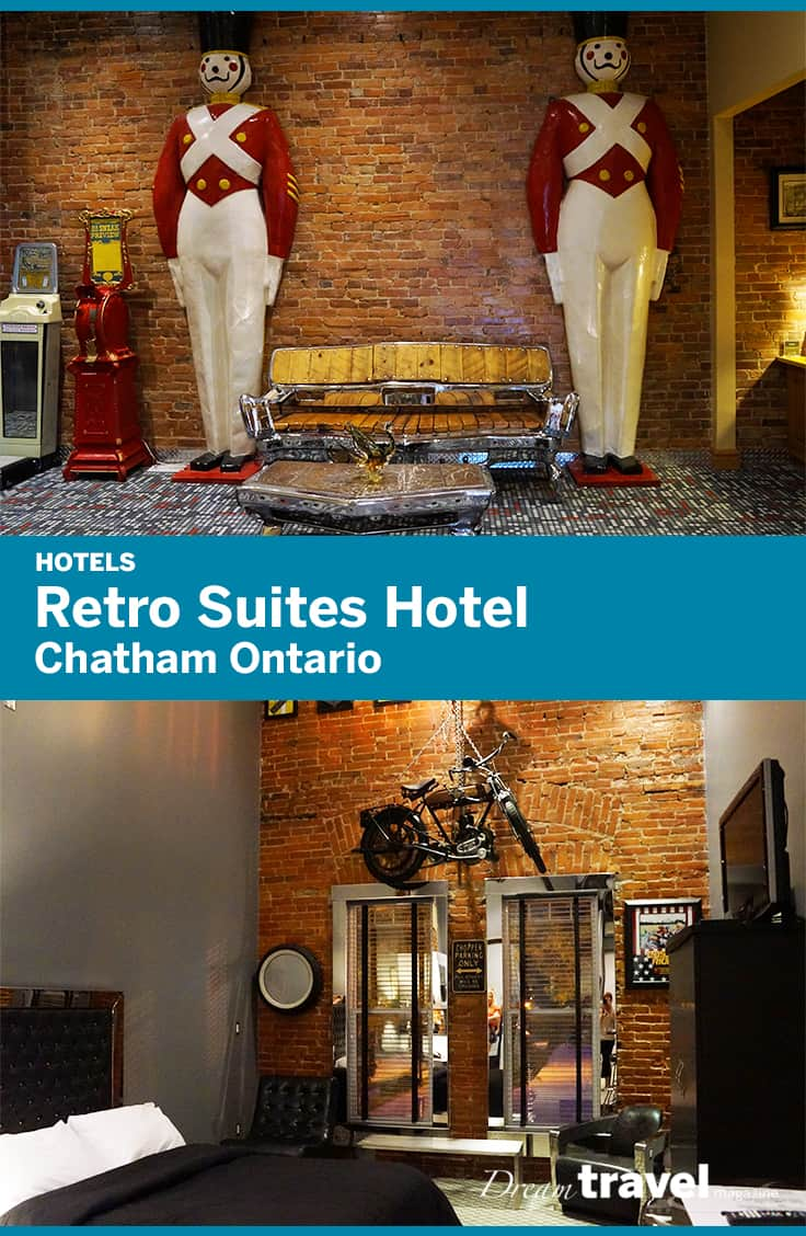 The retro suites hotel is chatham ontarios premiere boutique hotel where each suite is decorated with