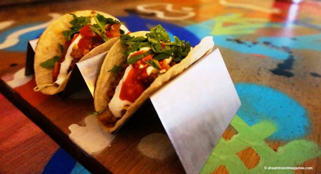 Tacos at The Mule Restaurant Hamilton Foodie Tour
