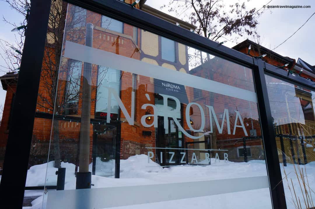 Aroma Restaurant Building on Hamilton Ontario Food Scene Tour