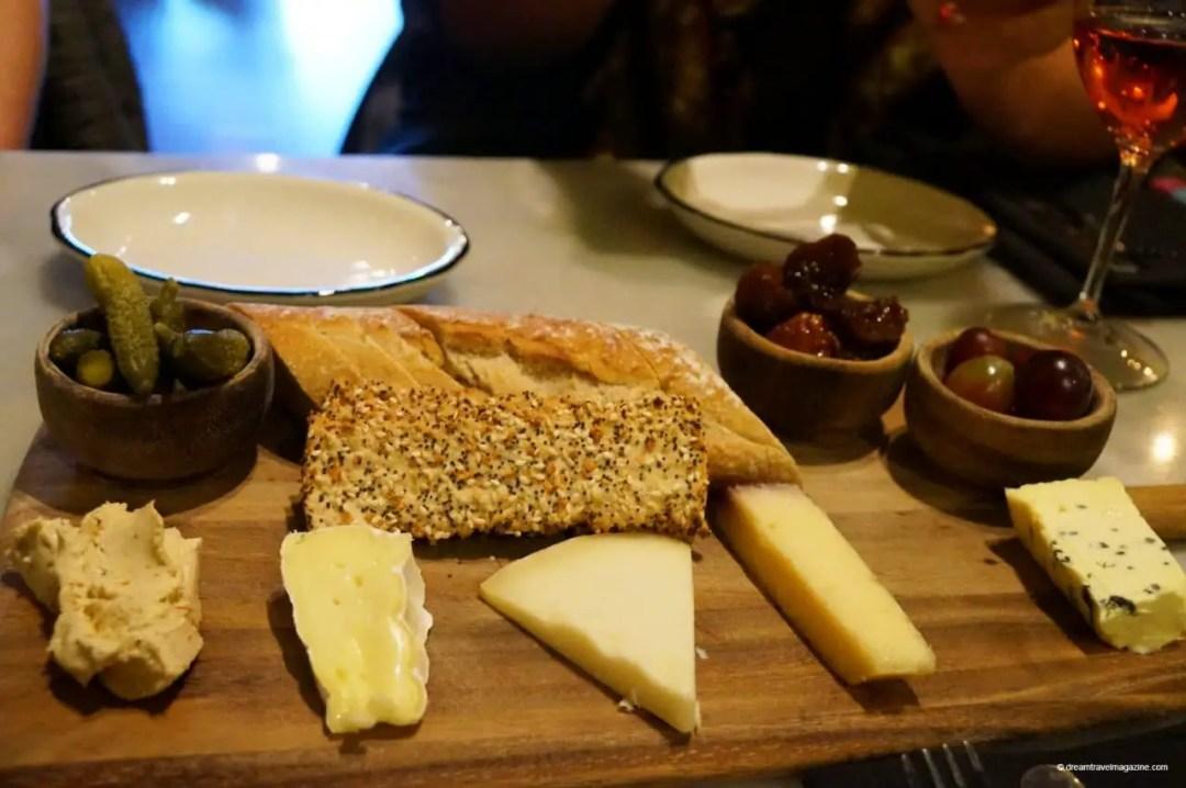 Cheese board from Cheesetique at Shirlington Village Arlington Virginia