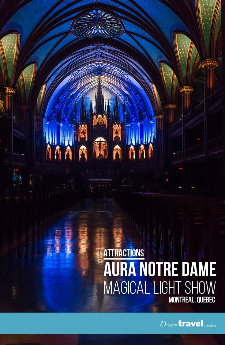 Attraction: Aura is a must-see show when visiting Montreal. Experience the amazing indoor light show transforming the inside of Montreal's famed Notre Dame Basilica. | Aura Notre Dame | Montreal | Attraction | Light Show |