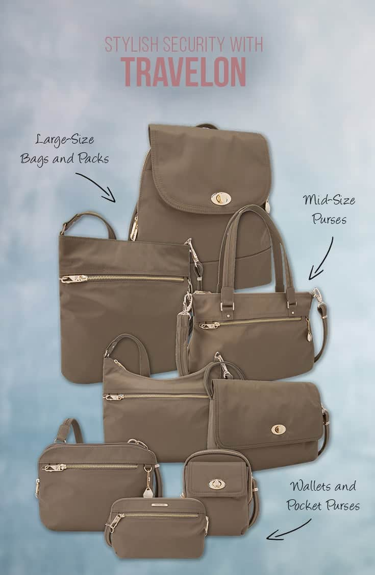 Travelon Bags offer stylish bags and purses with security features making them ideal for travel or busy city lifestyles. In this post we look at the sleek Tailored Collection of bags by Travelon. | Travel Gears | Bags and Purses | Security Features | Safe Travel | Travel Security | Gear Review | Travel Fashion | Travelon |