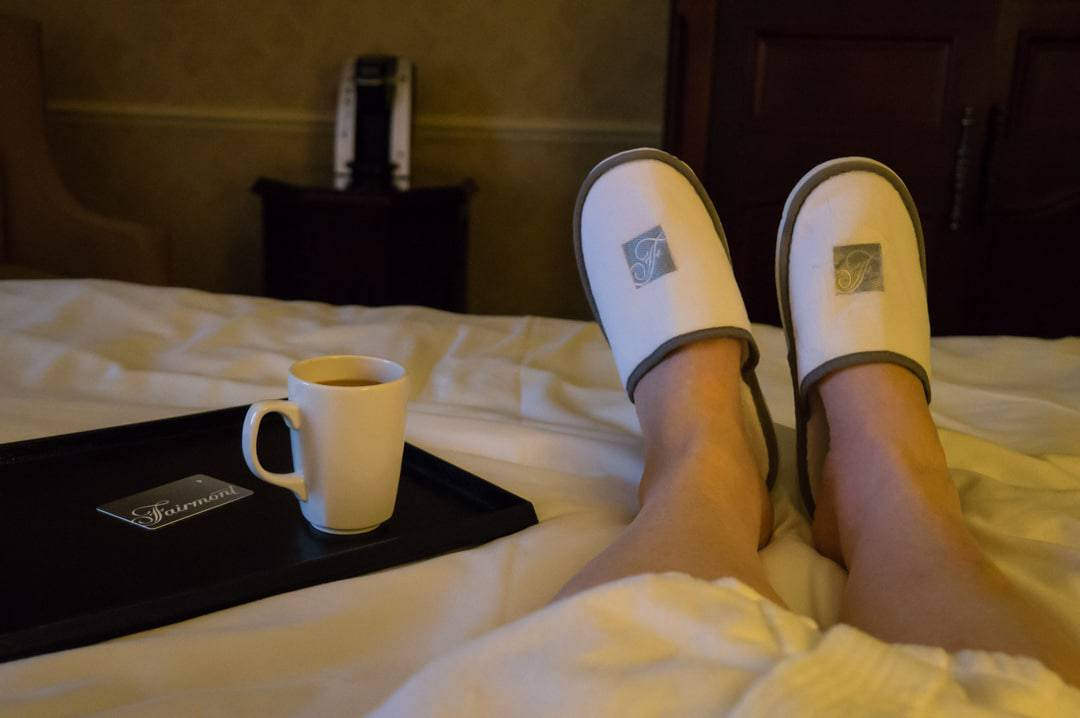 Morning wake up Fairmont Chateau Frontenac Quebec City Winter