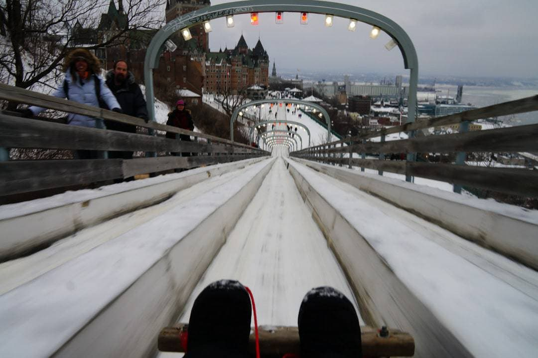 Famous Quebec Toboggan ride 10 Things to Do at the Quebec Winter Carnival