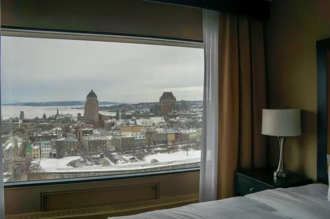 View Hilton Quebec City hotel room