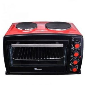 Saisho Electric Oven, 40L, 2 HotPlat, Red - S-936R