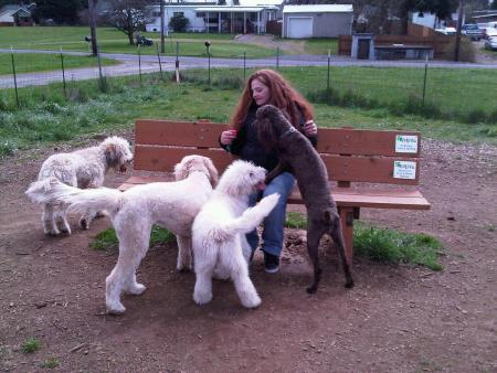 Me and my Doods at the Dog Park.