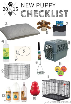Recommended Puppy Shopping Checklist!