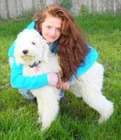 "Me and my Standard Poodle ""Miss Pele""!"