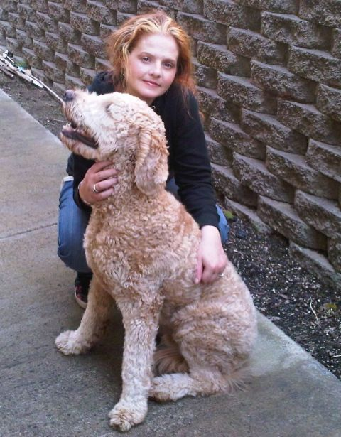 Me and Toby the Goldendoodle Male