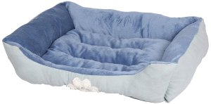 HappyCare Textiles Reversible Rectangle Pet Bed with Dog Paw Printing Medium size