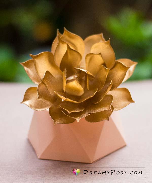 3d flower template paper