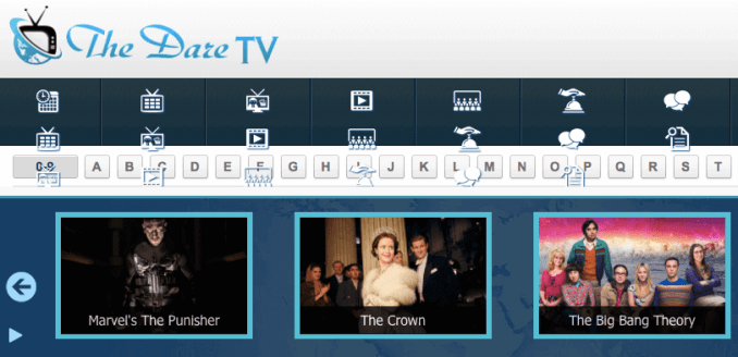 the dare tv homepage