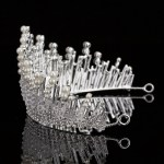Multilayers Luxury Silver Gold Crystal Pearl Tiara
