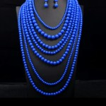 Multi Layer Pearls Necklace set . Long Indian set.