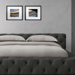 Exquisite King Size Upholstered Bed In Dark Grey Colour Dreamzz Furniture Online Furniture Shop