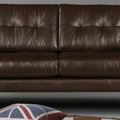 2 Seater Brown Sofa Bed And Cuddle Chair Set Amaranete Two In Leatherette Dreamzz